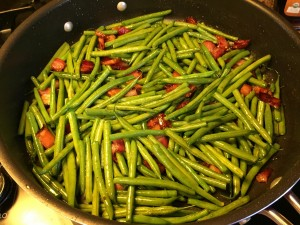 Add some green beans to the bacon party